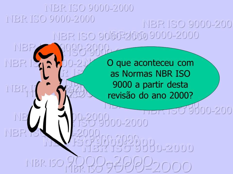 NBR ISO 9000-2000 O que aconteceu com as Normas NBR ISO 9000 a partir desta revisão do ano 2000