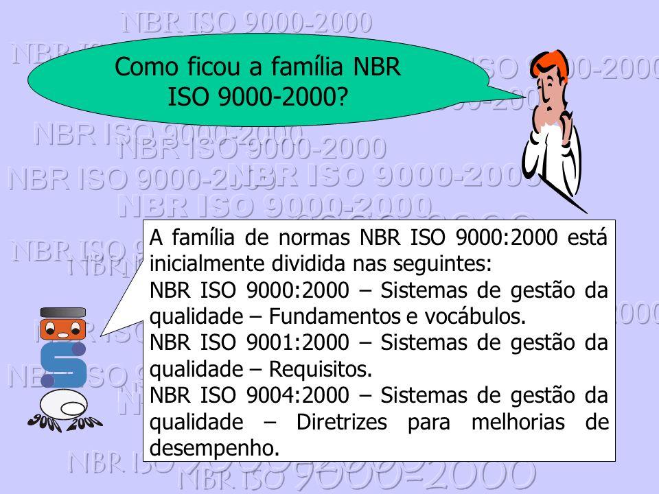 Como ficou a família NBR ISO 9000-2000