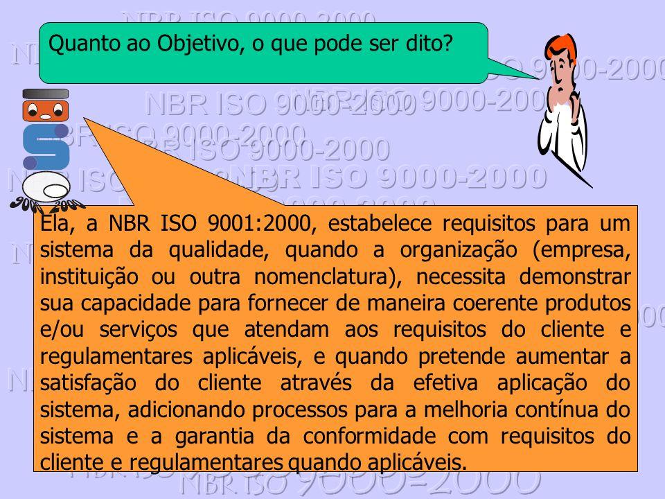 NBR ISO 9000-2000 Quanto ao Objetivo, o que pode ser dito
