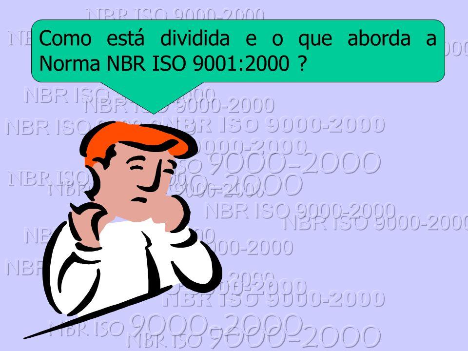 NBR ISO 9000-2000 Como está dividida e o que aborda a Norma NBR ISO 9001:2000