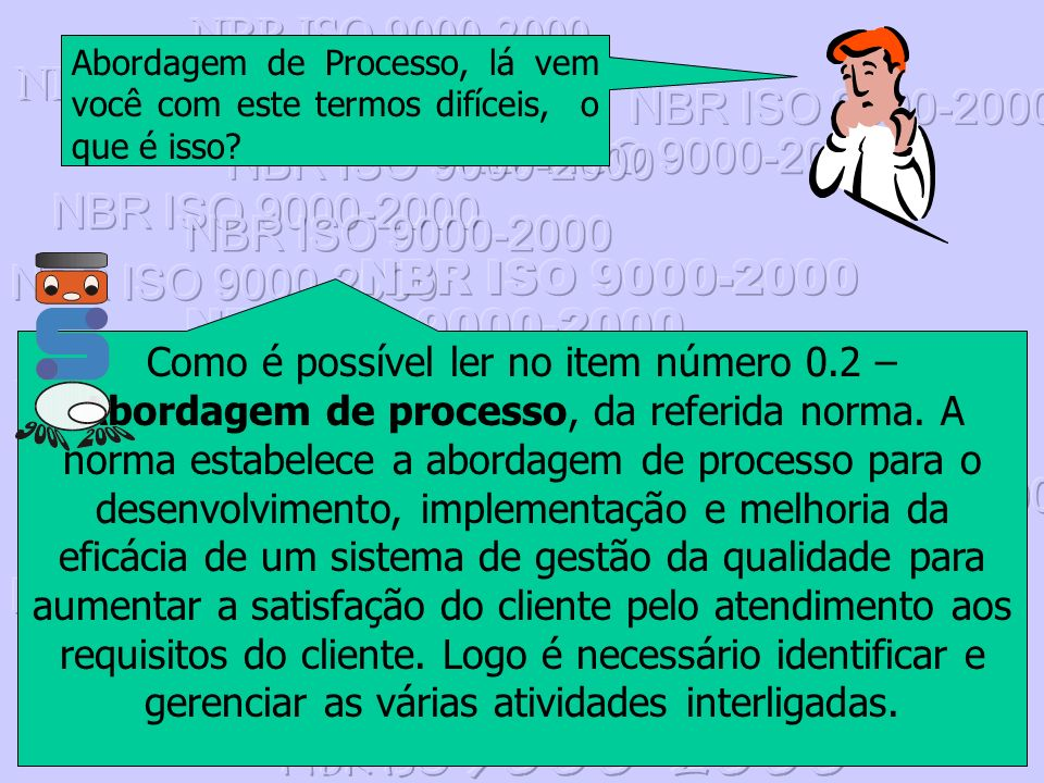 NBR ISO 9000-2000 Abordagem de Processo, lá vem você com este termos difíceis, o que é isso