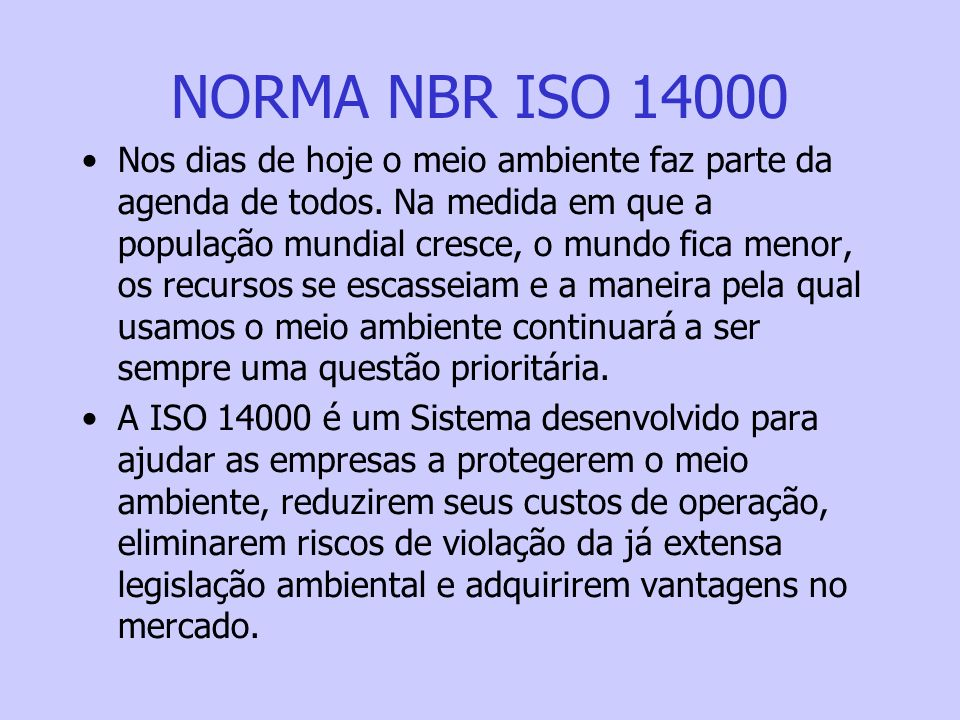 NORMA NBR ISO 14000