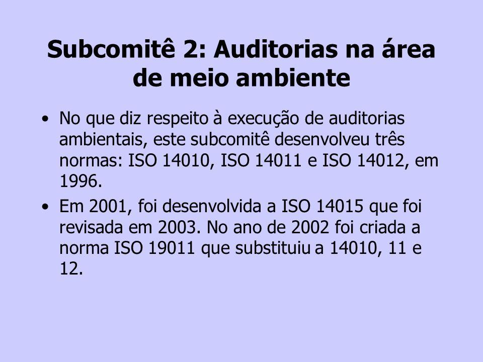 Subcomitê 2: Auditorias na área de meio ambiente