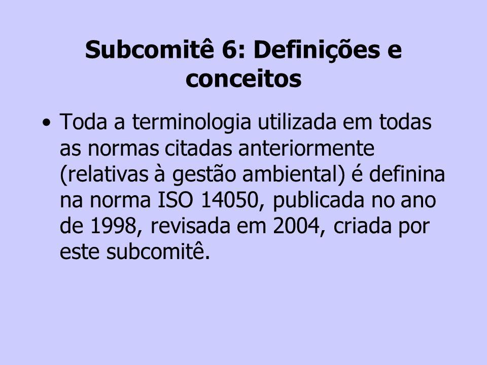 Subcomitê 6: Definições e conceitos