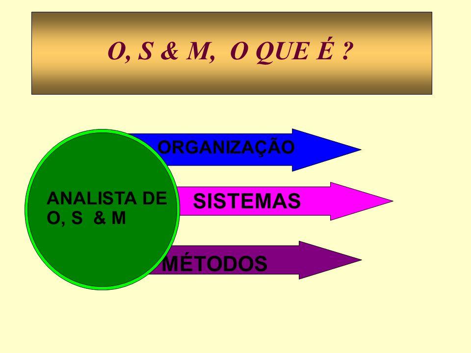 O, S & M, O QUE É ORGANIZAÇÃO ANALISTA DE O, S & M SISTEMAS MÉTODOS