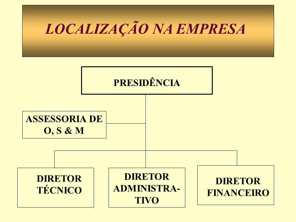 LOCALIZAÇÃO NA EMPRESA DIRETOR ADMINISTRA-TIVO
