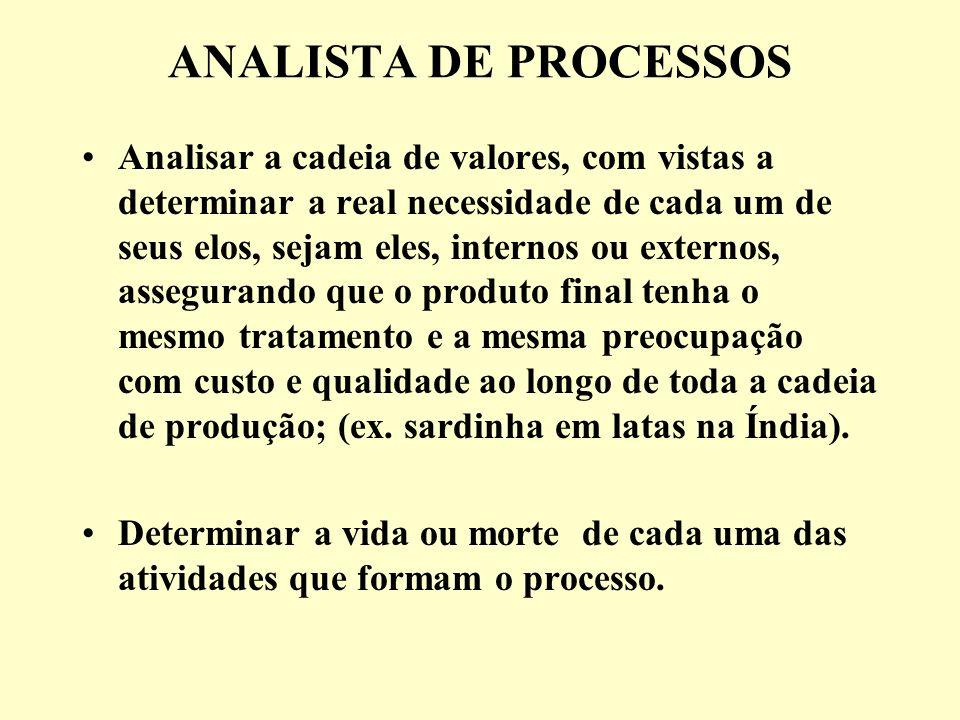 ANALISTA DE PROCESSOS