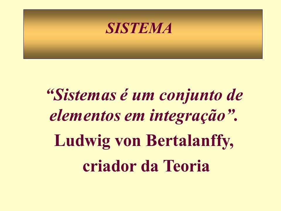 Sistemas é um conjunto de elementos em integração .