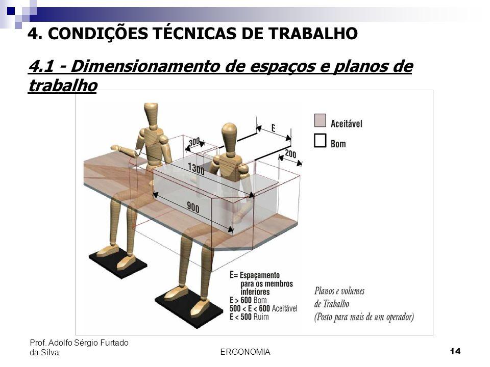 4. CONDIÇÕES TÉCNICAS DE TRABALHO