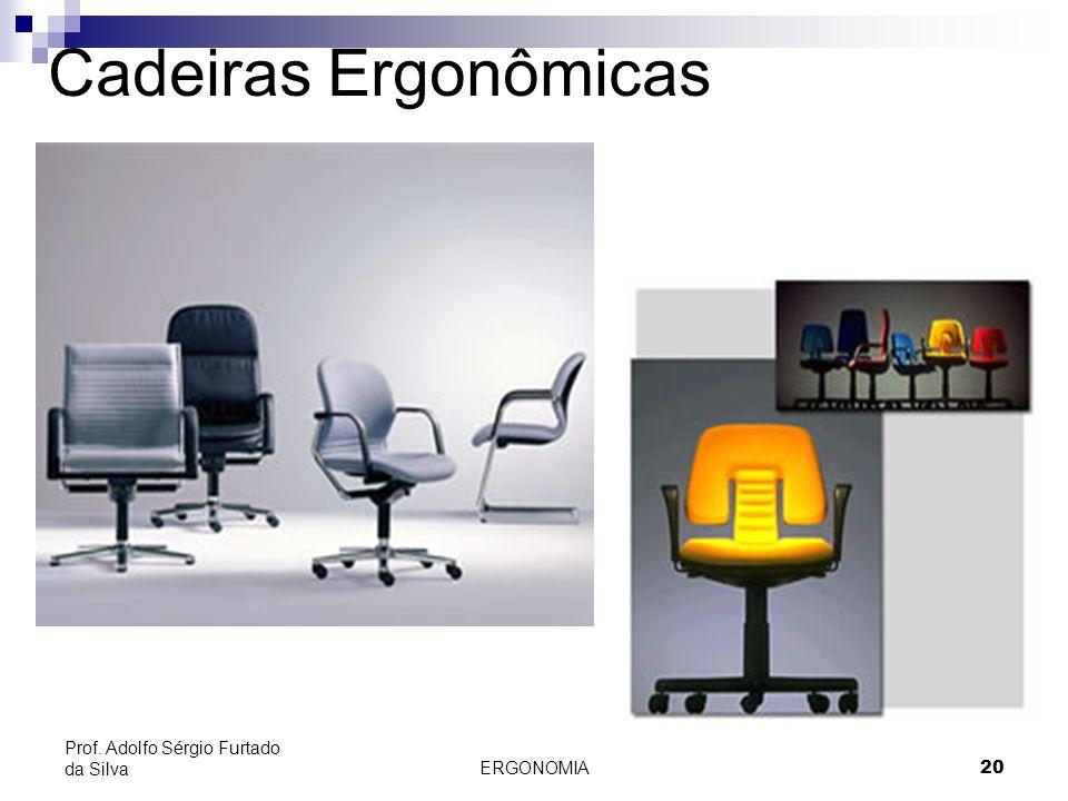 Cadeiras Ergonômicas Prof. Adolfo Sérgio Furtado da Silva ERGONOMIA