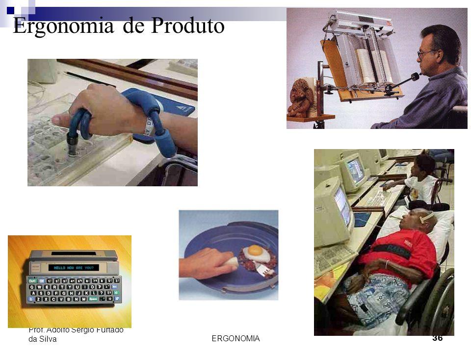 Ergonomia de Produto Prof. Adolfo Sérgio Furtado da Silva ERGONOMIA