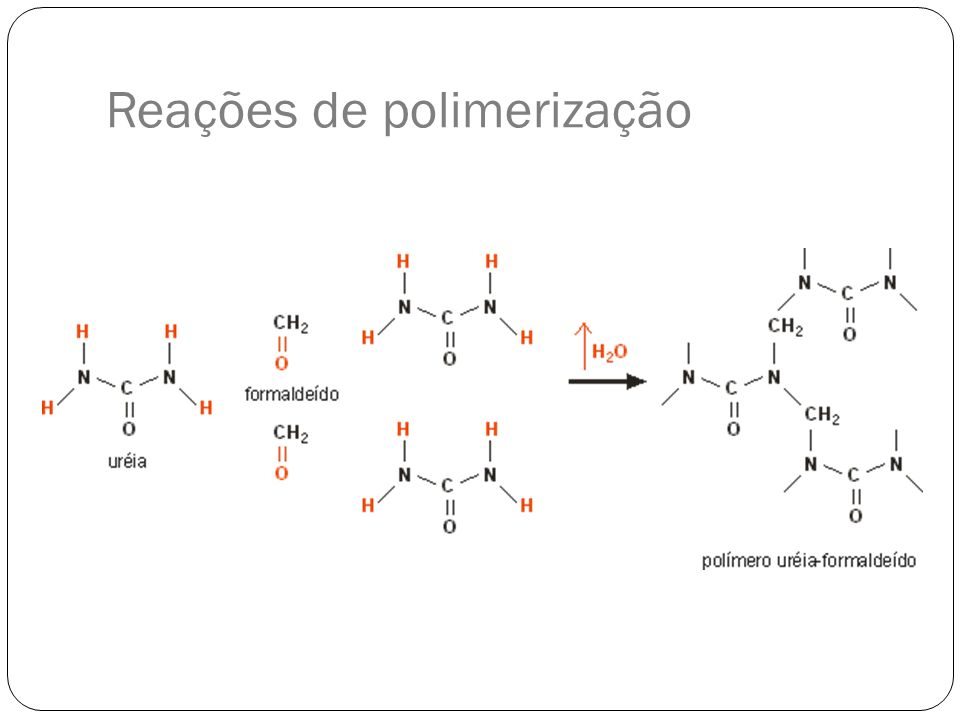 Reações de polimerização