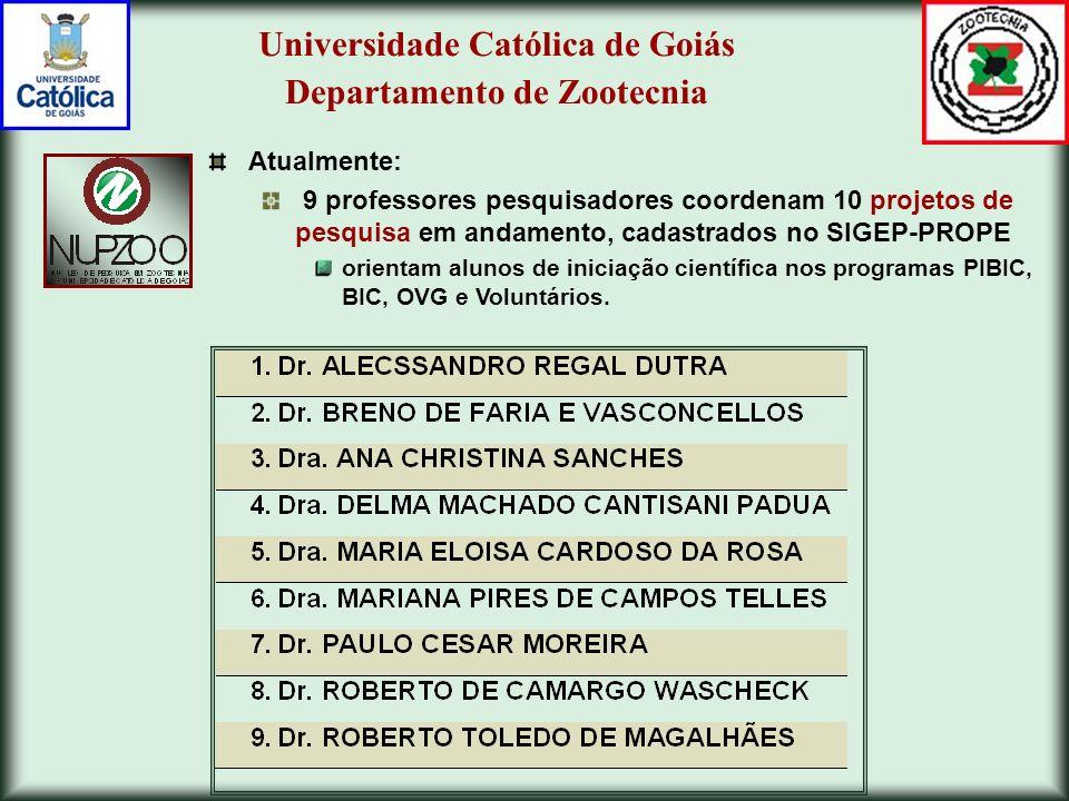 Universidade Católica de Goiás Departamento de Zootecnia