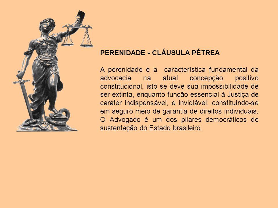 PERENIDADE - CLÁUSULA PÉTREA