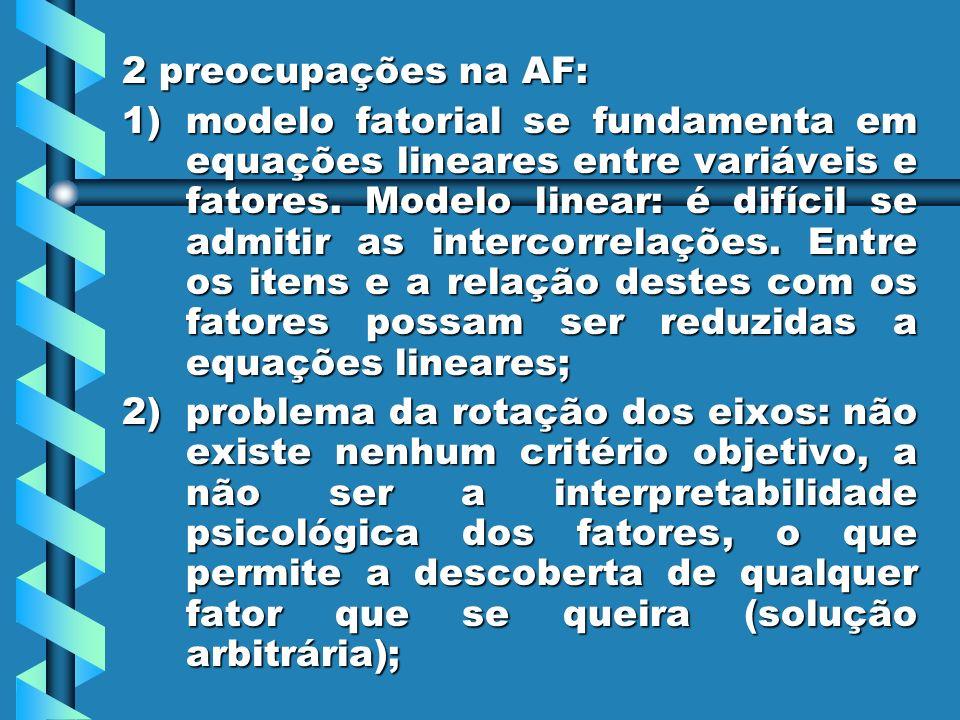 2 preocupações na AF: