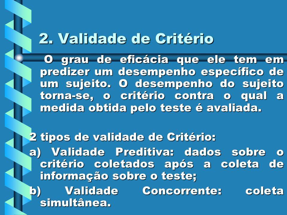 2. Validade de Critério