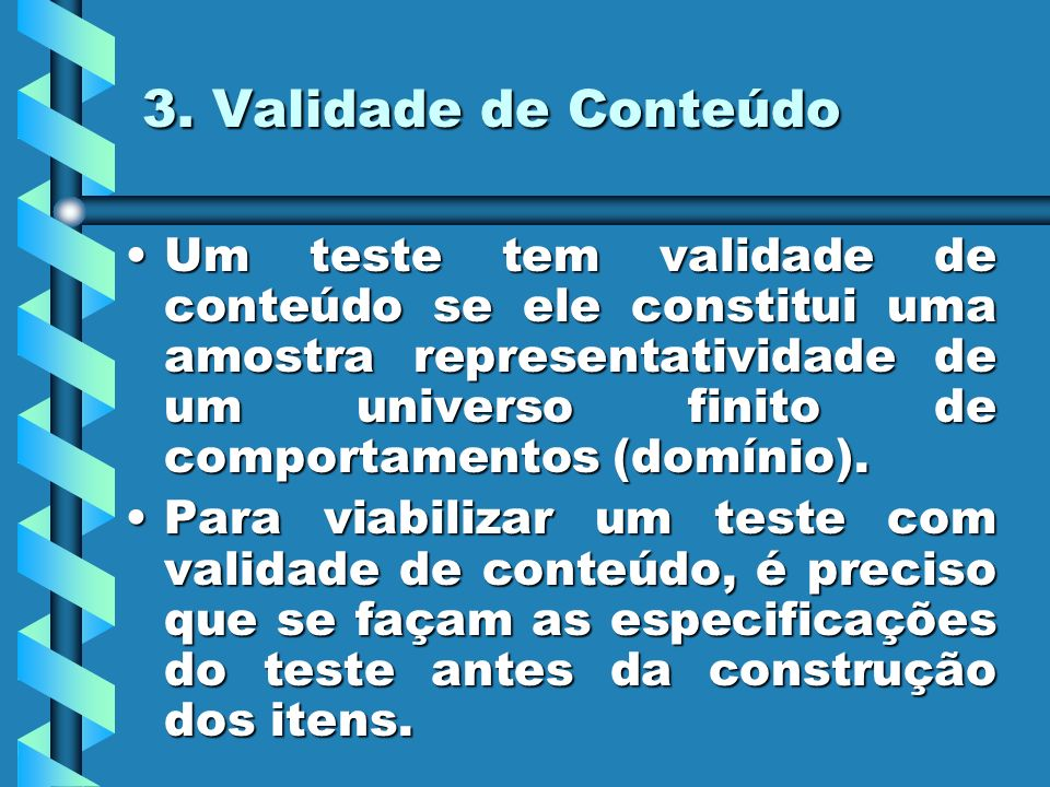 3. Validade de Conteúdo