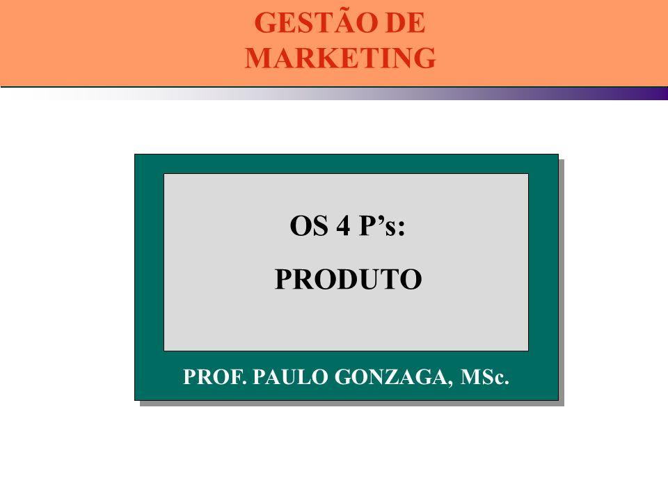 GESTÃO DE MARKETING OS 4 P's: PRODUTO