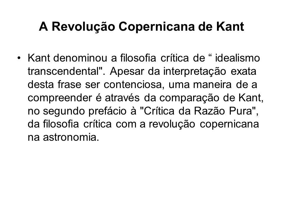 A Revolução Copernicana de Kant