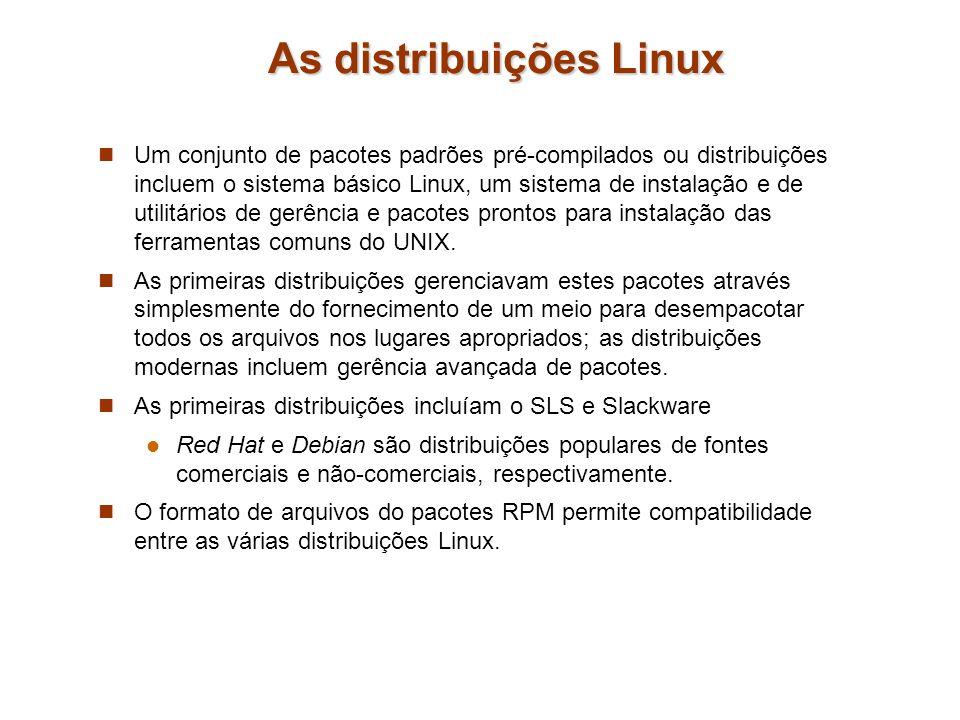 As distribuições Linux
