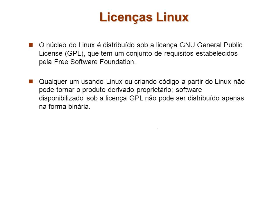 Licenças Linux