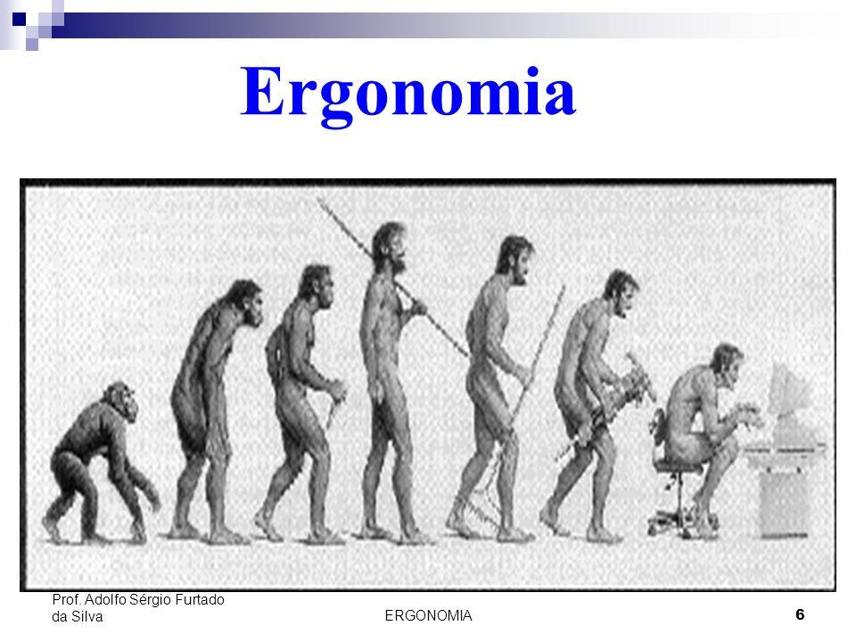Ergonomia Prof. Adolfo Sérgio Furtado da Silva ERGONOMIA