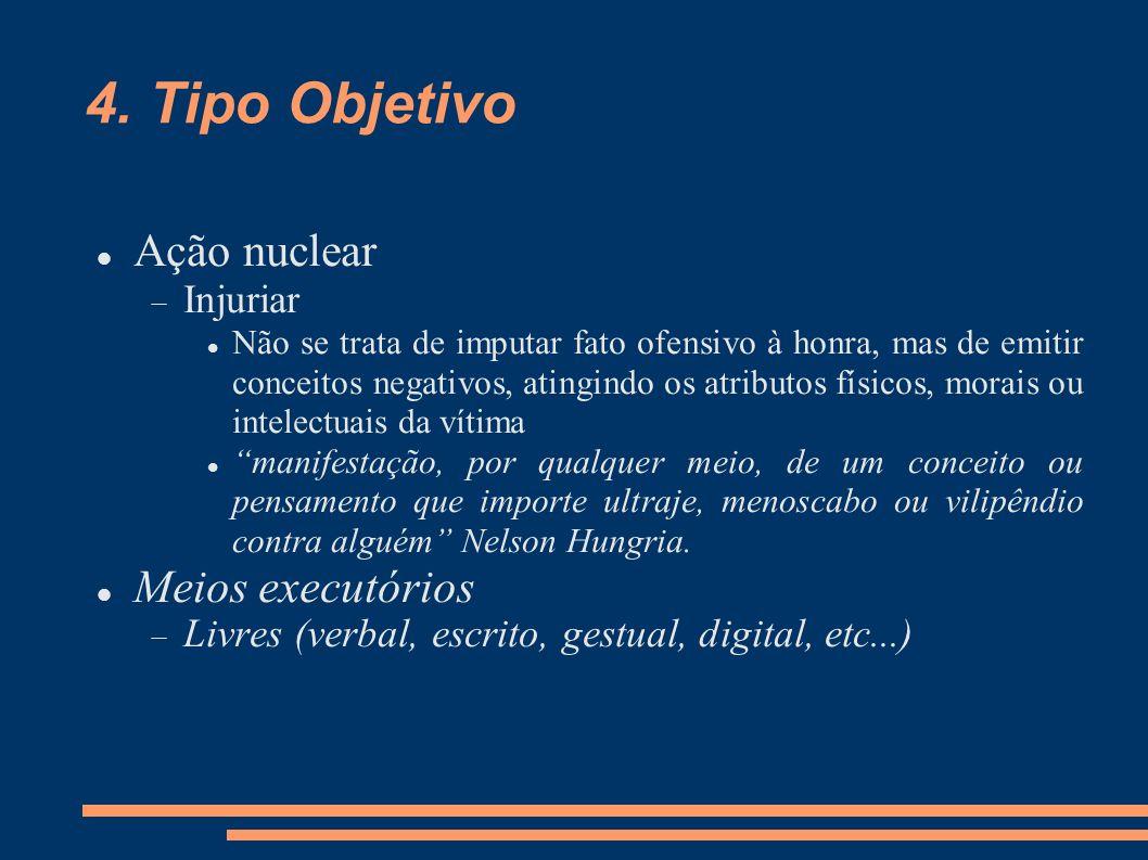 4. Tipo Objetivo Ação nuclear Meios executórios Injuriar