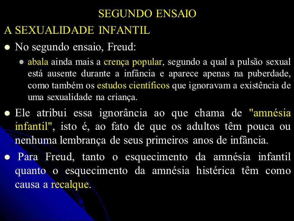 A SEXUALIDADE INFANTIL No segundo ensaio, Freud: