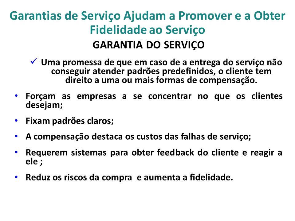 Garantias de Serviço Ajudam a Promover e a Obter Fidelidade ao Serviço