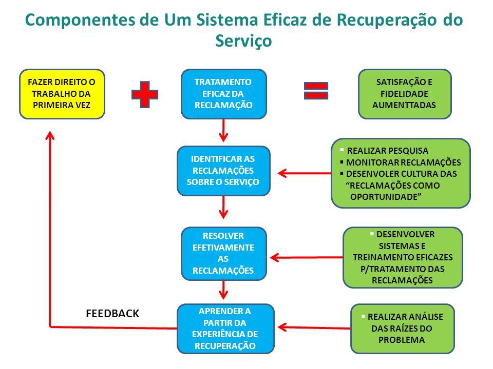Componentes de Um Sistema Eficaz de Recuperação do Serviço