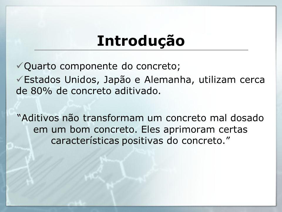 Introdução Quarto componente do concreto;