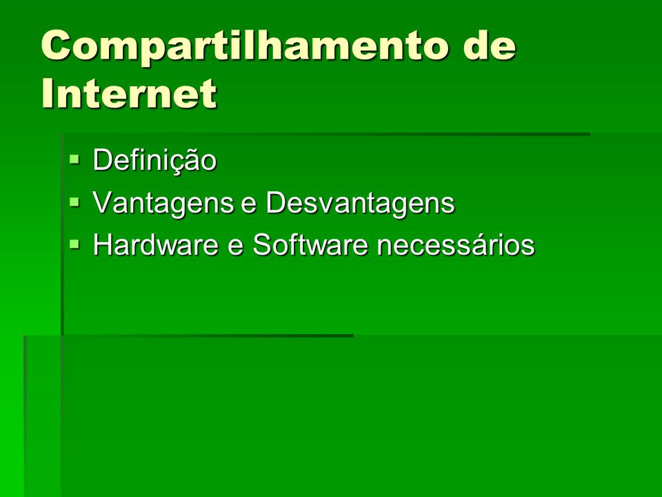 Compartilhamento de Internet