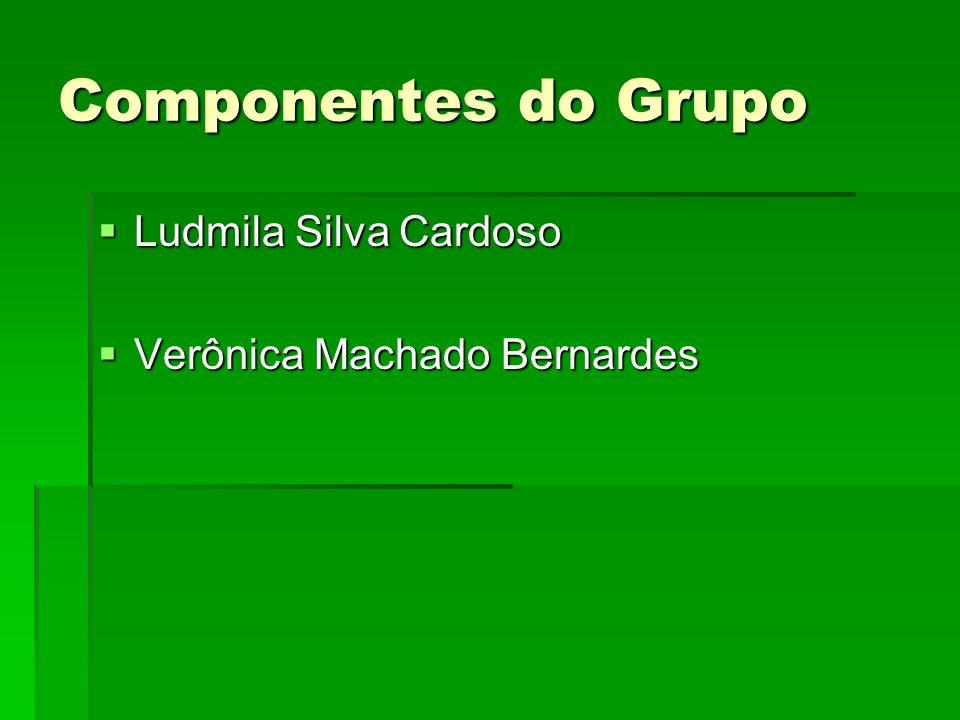Componentes do Grupo Ludmila Silva Cardoso Verônica Machado Bernardes