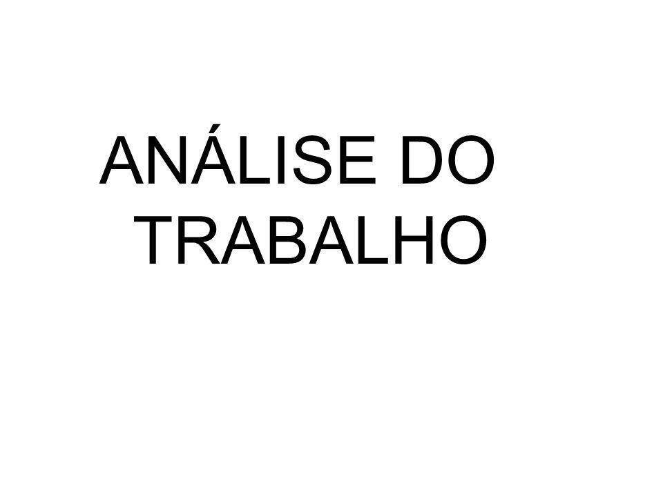 ANÁLISE DO TRABALHO