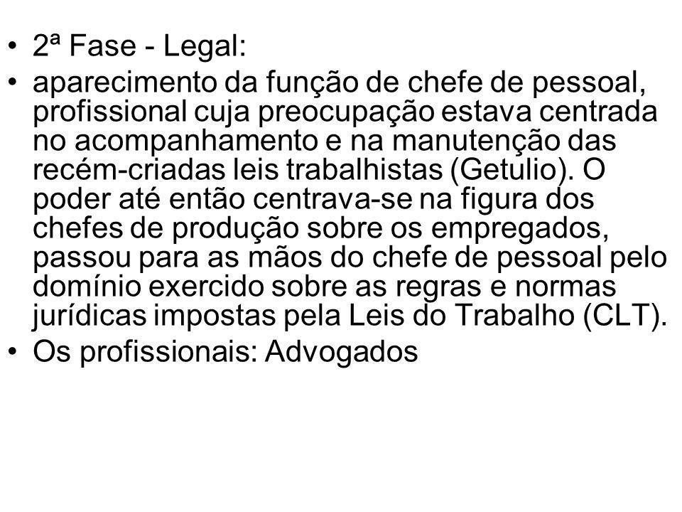 2ª Fase - Legal: