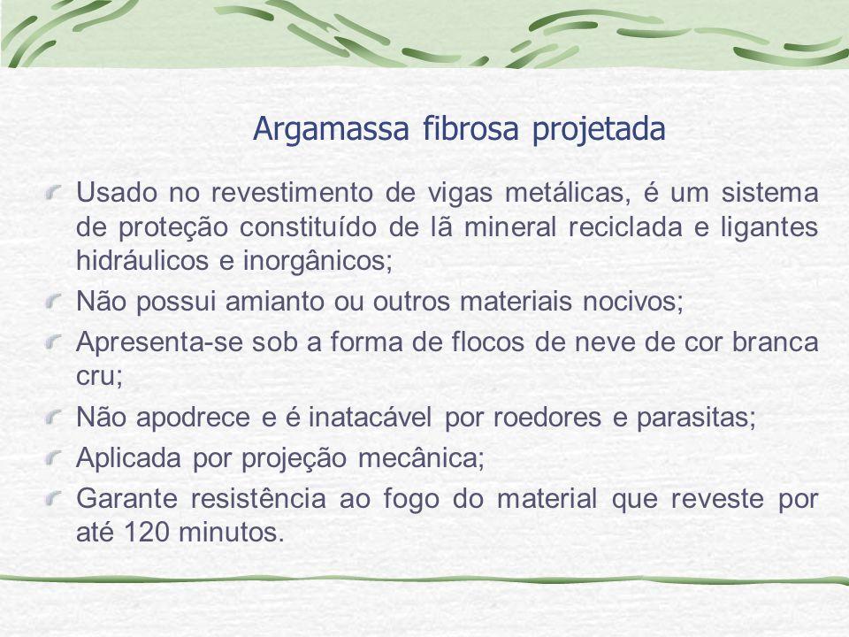 Argamassa fibrosa projetada