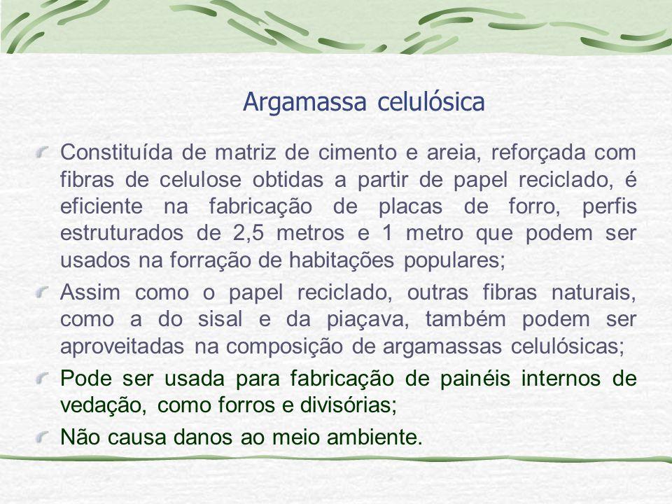 Argamassa celulósica