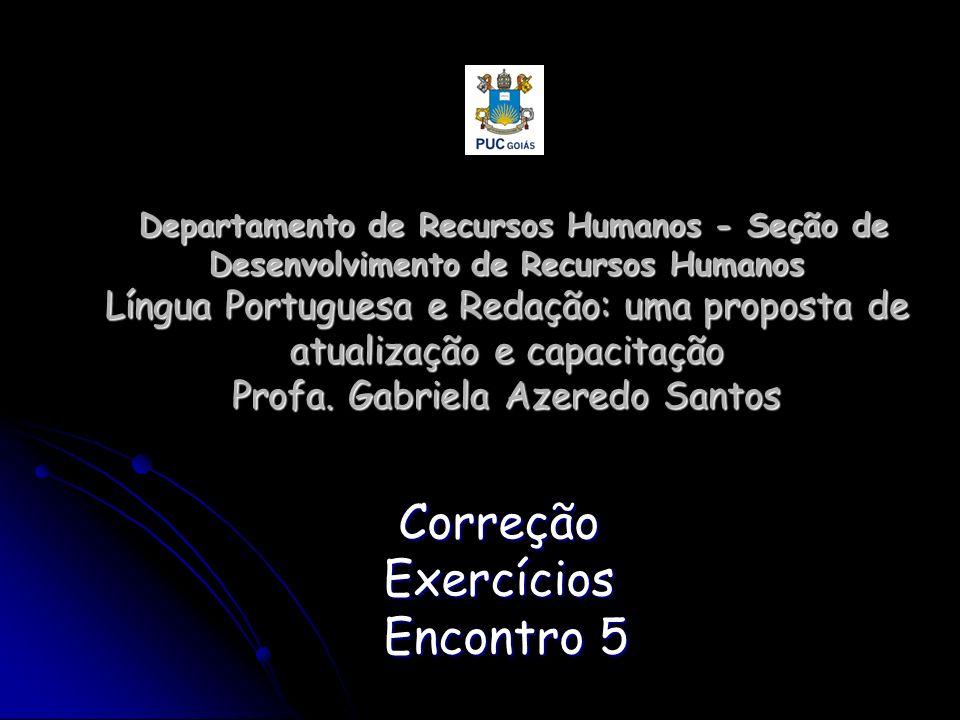 Correção Exercícios Encontro 5