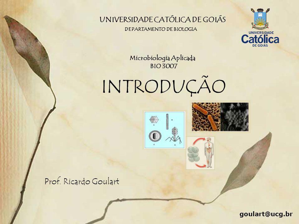 UNIVERSIDADE CATÓLICA DE GOIÁS Microbiologia Aplicada