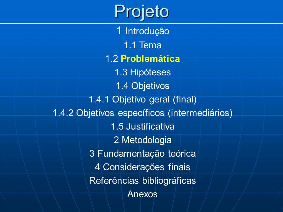 Projeto 1 Introdução 1.1 Tema 1.2 Problemática 1.3 Hipóteses