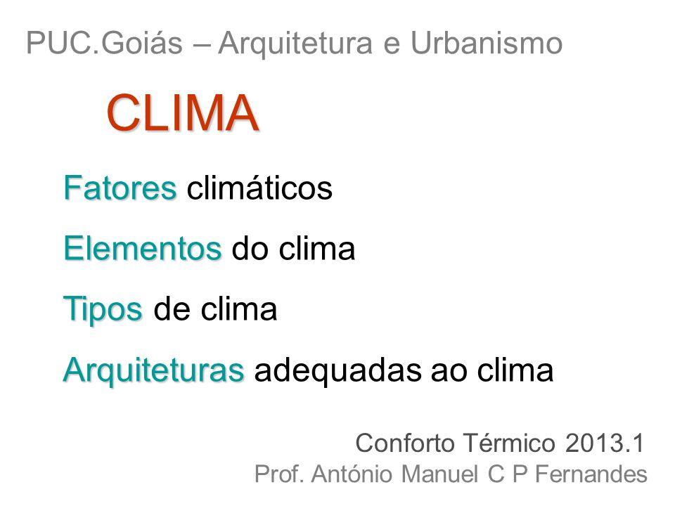 CLIMA Fatores climáticos Elementos do clima Tipos de clima