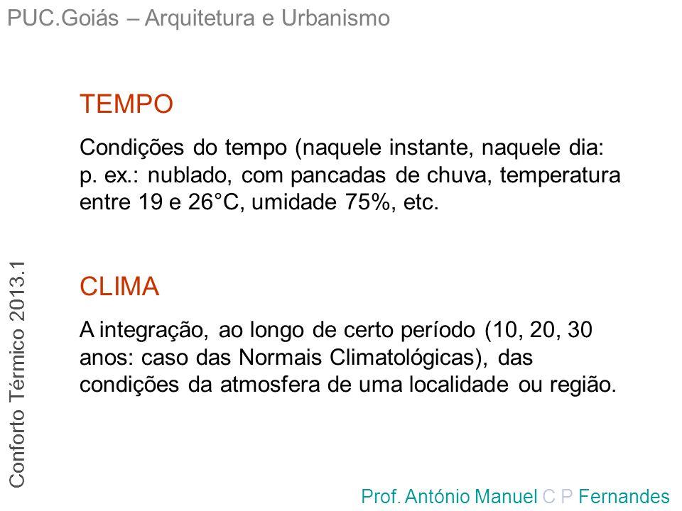 TEMPO CLIMA PUC.Goiás – Arquitetura e Urbanismo