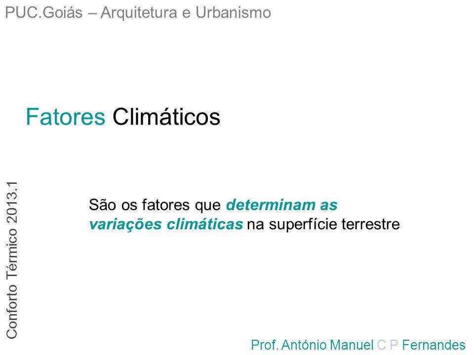Fatores Climáticos PUC.Goiás – Arquitetura e Urbanismo