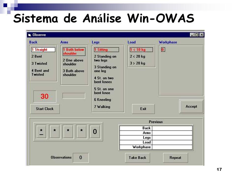 Sistema de Análise Win-OWAS