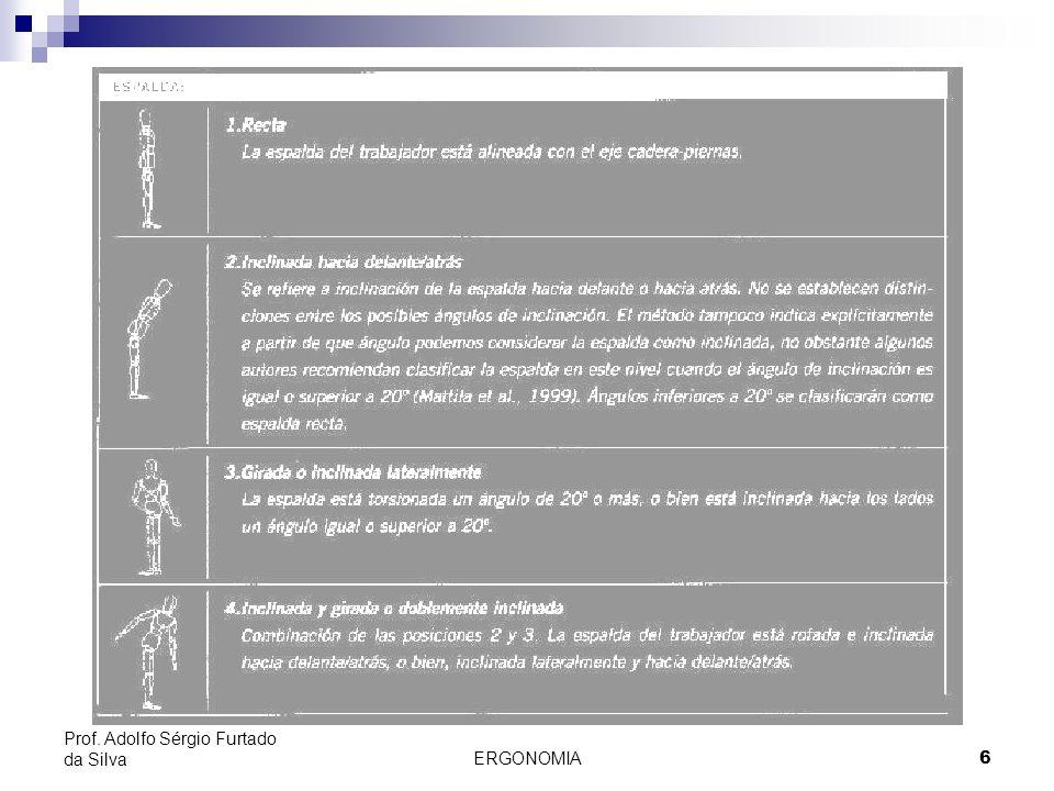 Passos Prof. Adolfo Sérgio Furtado da Silva ERGONOMIA