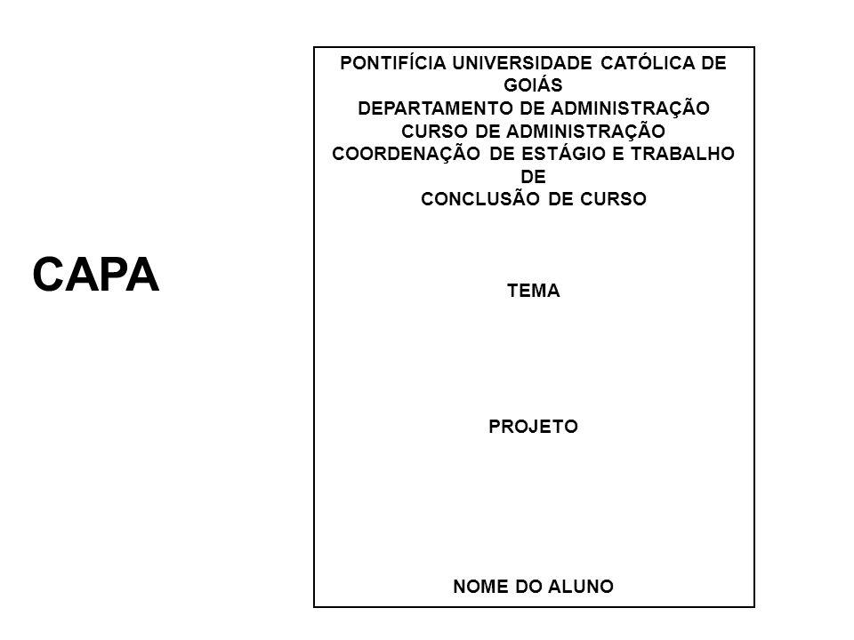 CAPA PONTIFÍCIA UNIVERSIDADE CATÓLICA DE GOIÁS