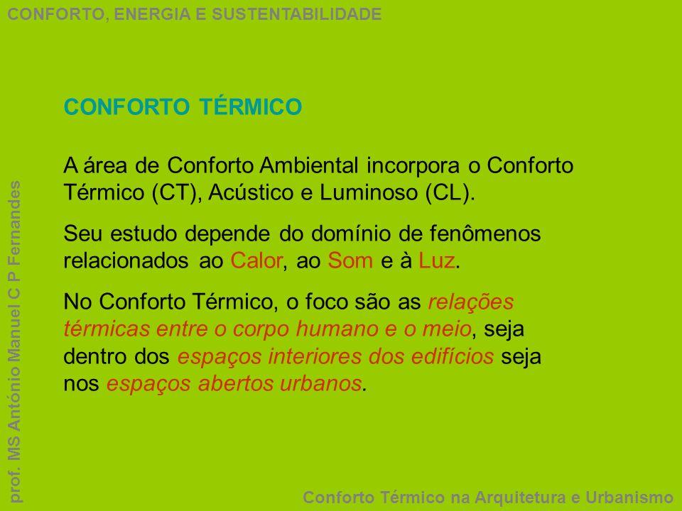 CONFORTO, ENERGIA E SUSTENTABILIDADE