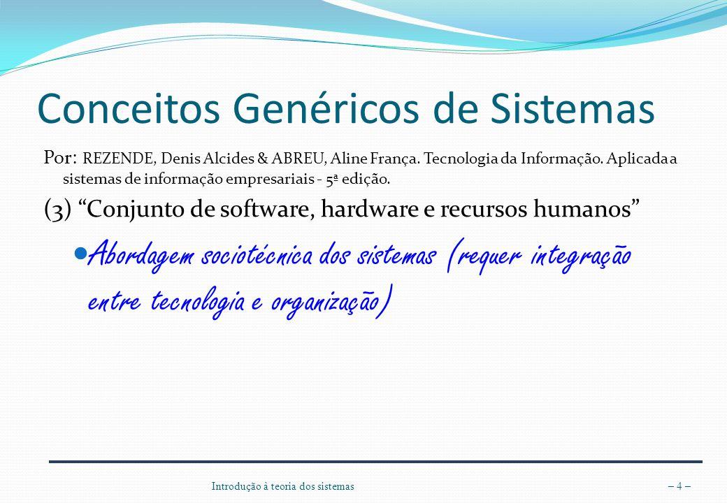 Conceitos Genéricos de Sistemas
