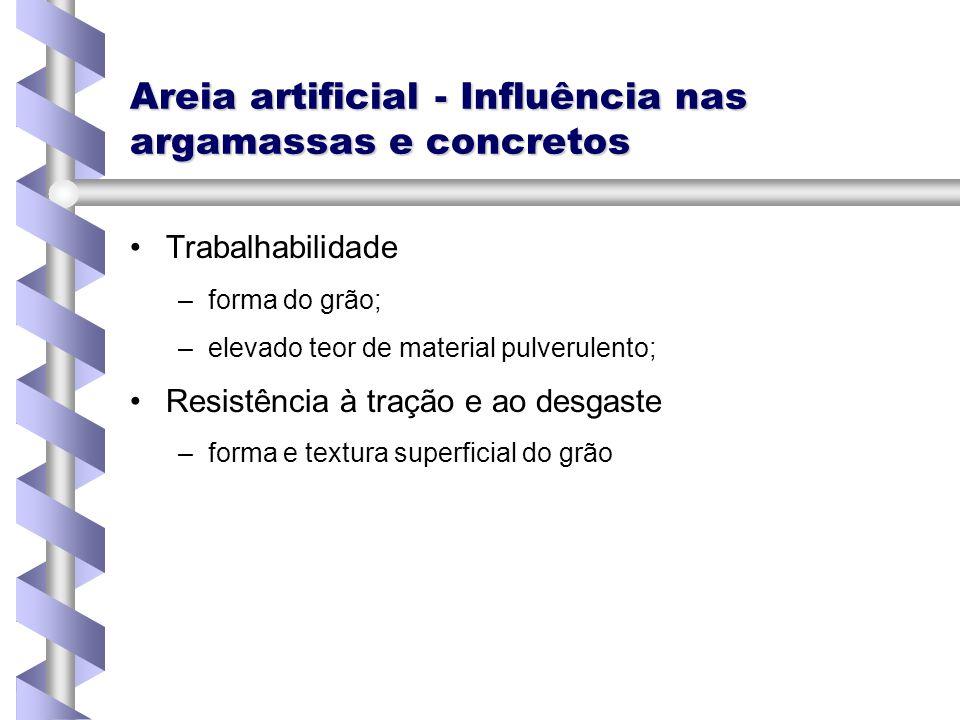 Areia artificial - Influência nas argamassas e concretos