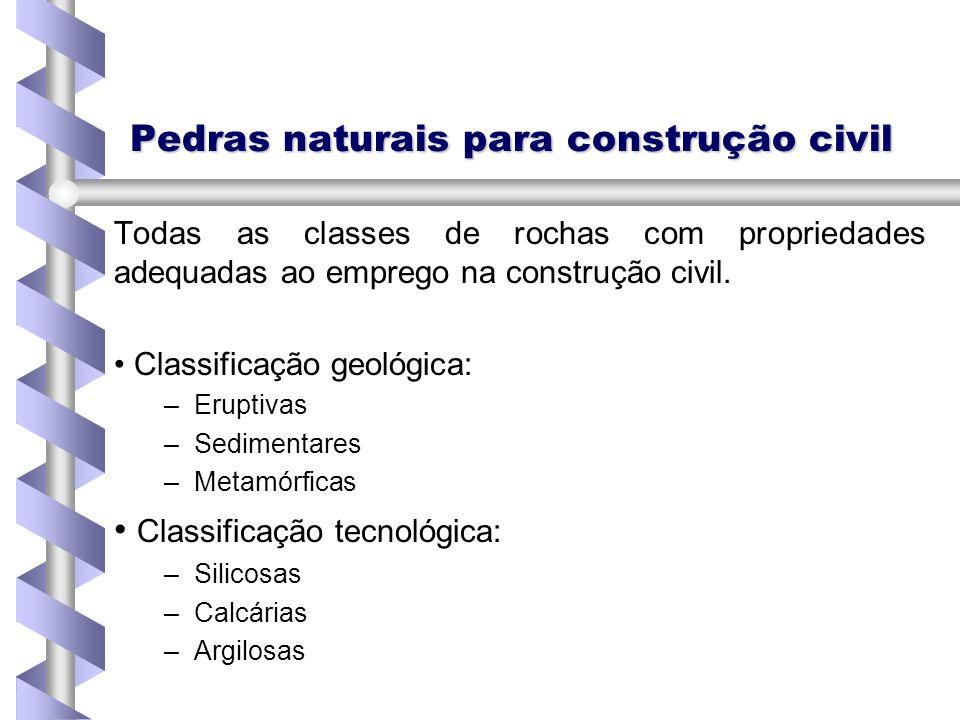 Pedras naturais para construção civil